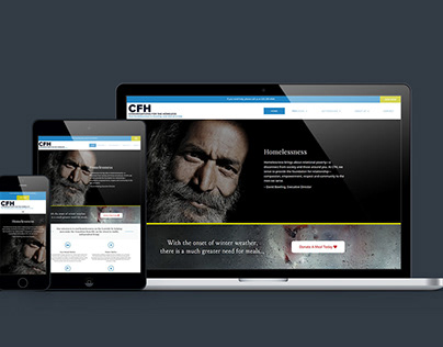 Congregations for the Homeless - Web Redesign