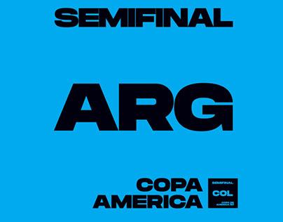 Argentina Vs Colombia Poster Kinetico Copa América