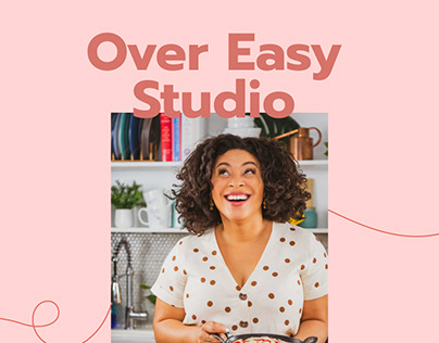 Over Easy Studio Onepage Website and Identity Design