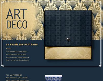 Art Deco Seamless Vector Patterns