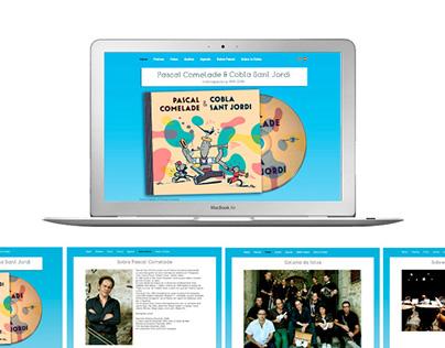 Promotional microsite / Comelade & Cobla Sant Jordi
