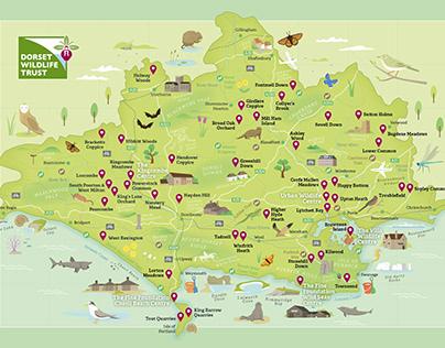 Dorset Wildlife Trust Nature Reserve Map