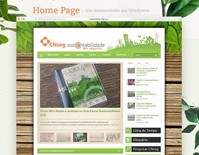 Web Design - Sustentabilidade em Seguros - CNseg