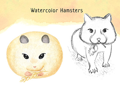Watercolor Hamsters