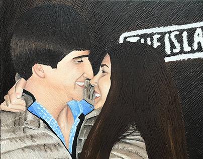 Amor en una pintura