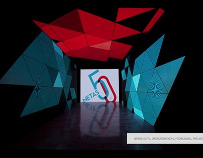 NETAŞ 50th Year Videowall Project