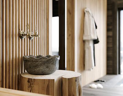 Talc baths