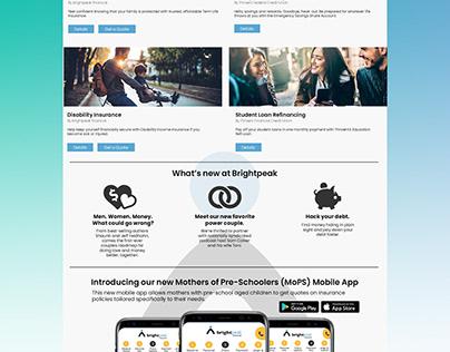 Brightpeak Financial Responsive Website Concept