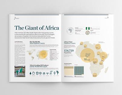 """Páginas infográficas """"Nigeria@50 Compendium"""". 2010"""