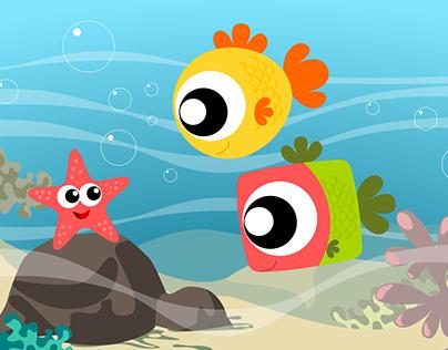 Fishes & sea star