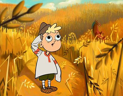 "illustrations for animation serial ""Magic Lattern"""