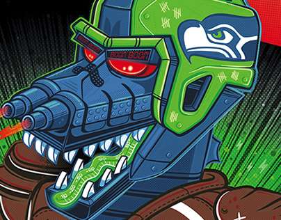 Legion of Boom - Seattle Times / SeaHawks MechaGodzilla