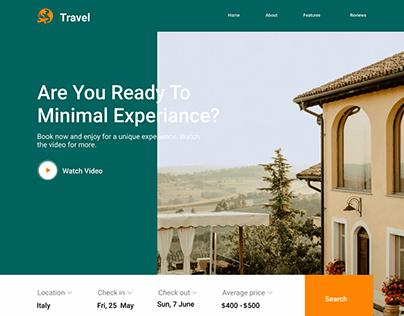 Landing Page: Travel