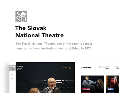 The Slovak National Theatre - new web