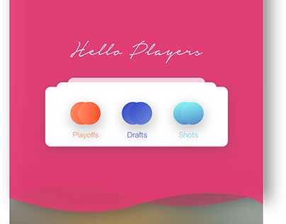 Dribbble debut design: Hello Players!