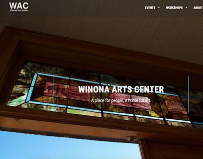 Winona Arts Center website version 1