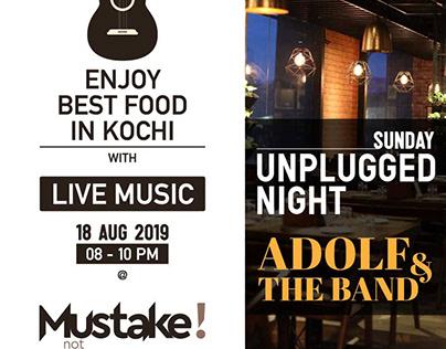 Social media poster for Mustake Restaurant