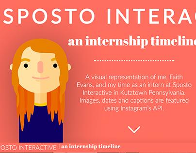 Sposto Interactive Internship Timeline Website