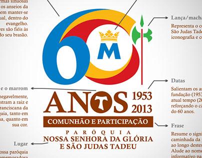 Selo 60 anos - Paróquia N Sra da Glória e S Judas Tadeu