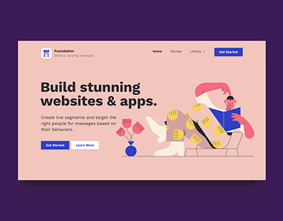 Foundation — Startup Landing Page Website Template