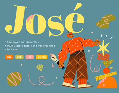 Jose ⭐️ Illustration pack