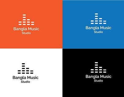 Bangla Music Studio logo design