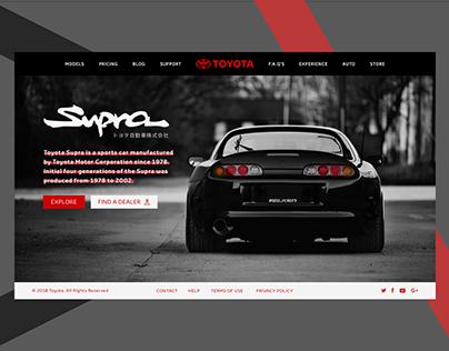 Toyota Supra Landing Page