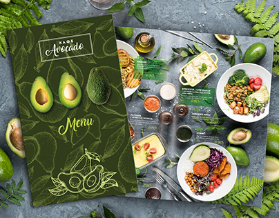 Menu photo, design for vegan cafe Фуд фото, дизайн меню