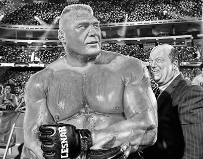 WWE Brock Lesnar Painting