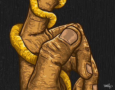 """Golden Snake"" (Ilustración Digital)"