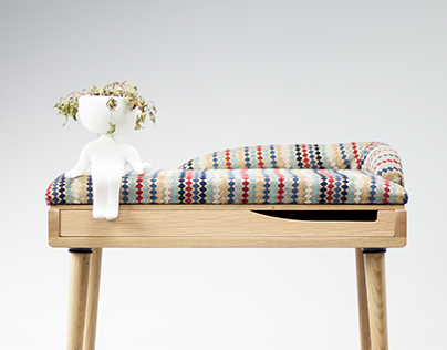 Oak/walnut Viktoria stool