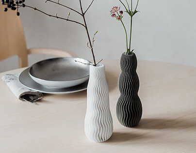 WAVE 3D PRINTED VASES