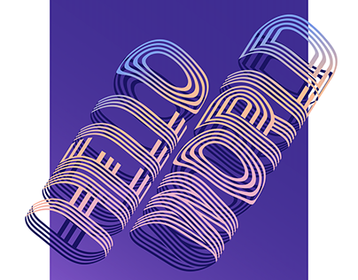 HELLO WORLD Typography Poster Design