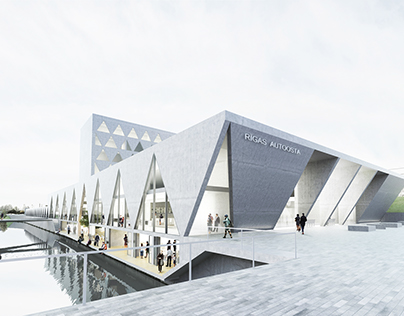 Riga International Bus Terminal Competition Entry