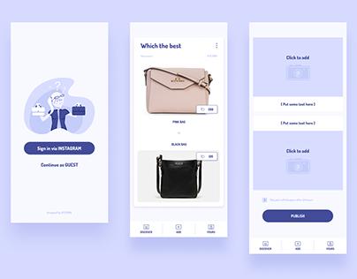 Simple 3 layouts App