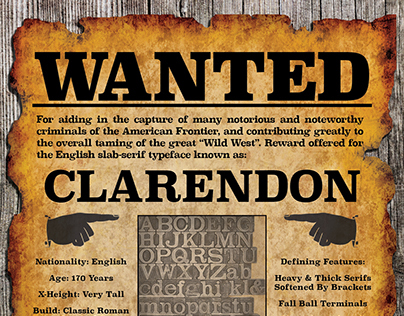 Clarendon Type History Poster