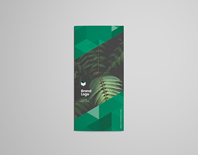 Abstract Green Trifold