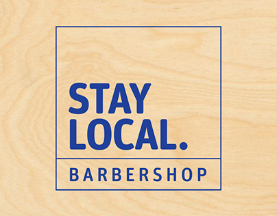 Stay Local Barbershop Brand Identity
