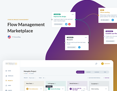 Flow Management Marketplace | Web application