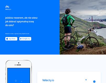 Landing Page Velocity.io App