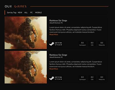 Solutus Games Concept Website Design