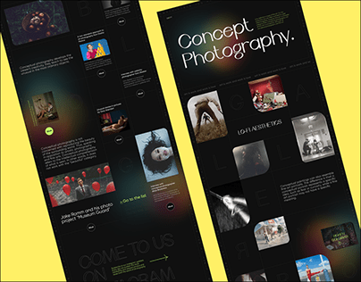 Concept Photography Website