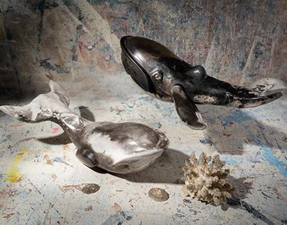 Ceramic whales