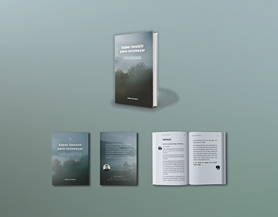 Book cover design, pagination book: Saber desistir