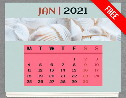 Monthly Calendar 2021 - free Google Docs Template