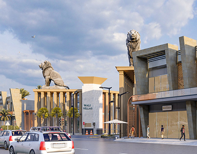 Wali Villas | Commercial Center and Colony Design,Wahab