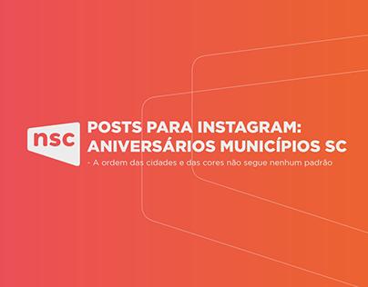 ANIVERSÁRIOS MUNICÍPIOS SC