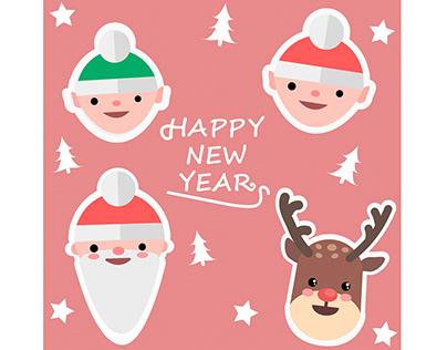 Новорічні стікери (New Year's stickers)