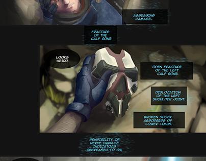Sci-fi webcomics Echo_Zero, chapter 01