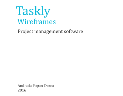 Taskly Wireframes